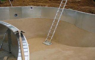 Prepping base for liner installation