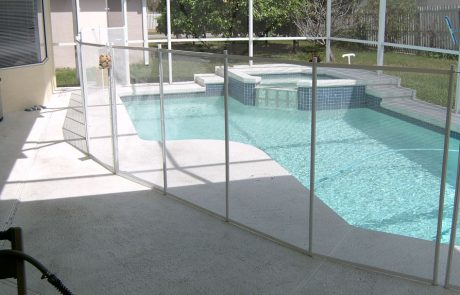White Mesh Pool Fence