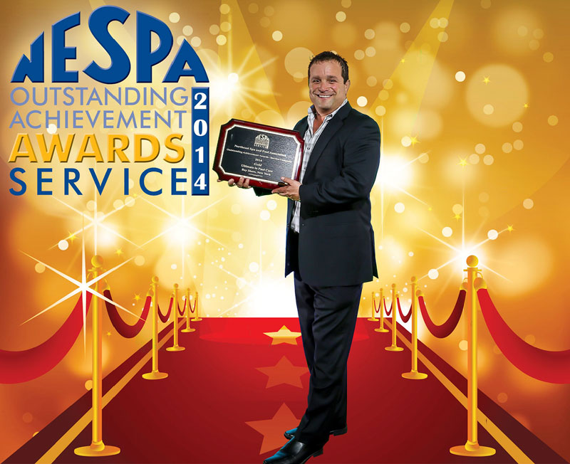 NESPA Awards the Ultimate in Pool Care Gold for Customer Service in 2014