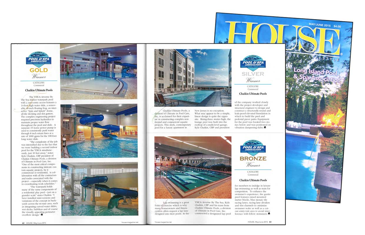 Chaikin Ultimate Pools, as Featured in HOUSE Magazine