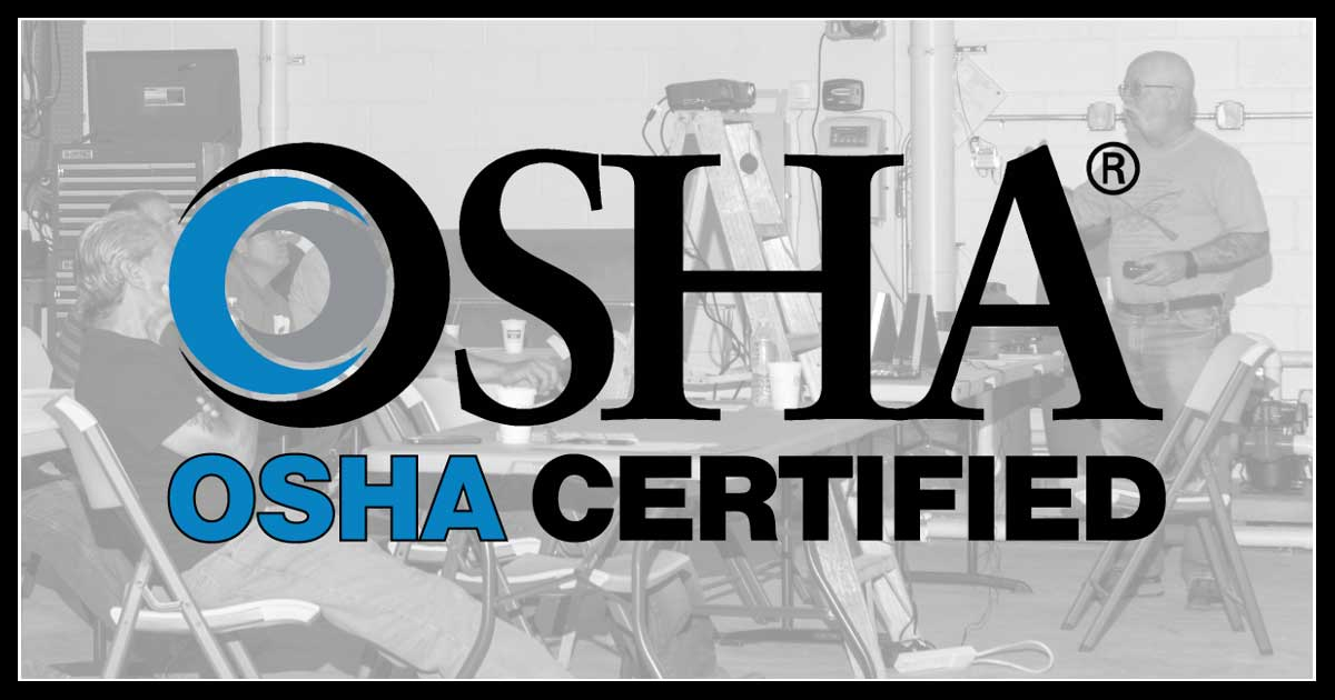 Swimming Pool Construction Workers OSHA Certified Training Class