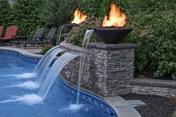 Firepits and Sheer Descents Can Accentuate your Backyard Playground