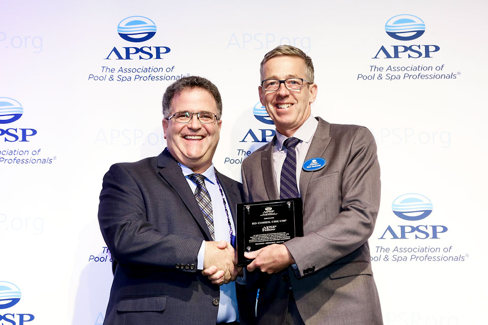 Ed Cohen Accepting APSP Fellow Award