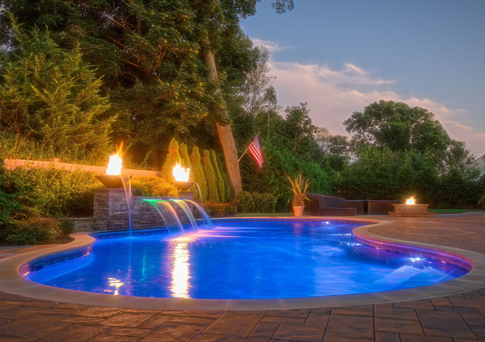 Residential Pool Construction with Special Features
