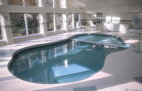 Indoor Swimming Pool Construction with Automatic Safety Cover