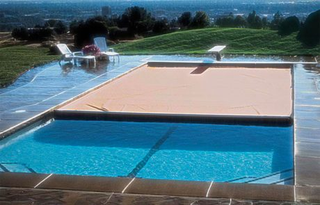 Residential Swimming Pool Construction with Automatic Safety Cover
